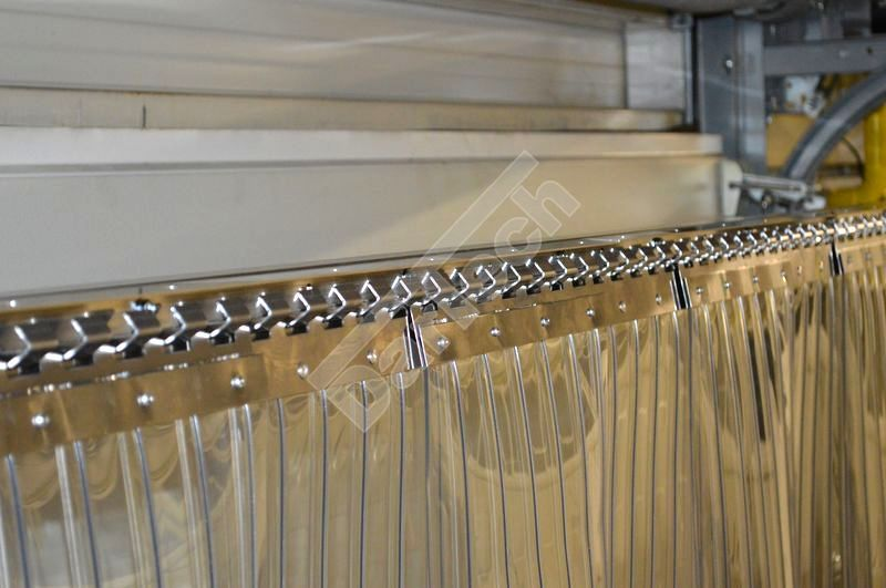 standard ribbed pvc strip curtains